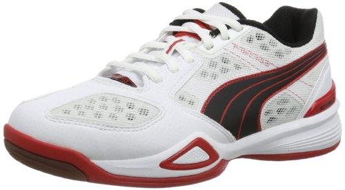 Puma  Agilio, Chaussures indoor homme Blanc (Bianco (Weiß (Blanc-black-high risk red 04)))