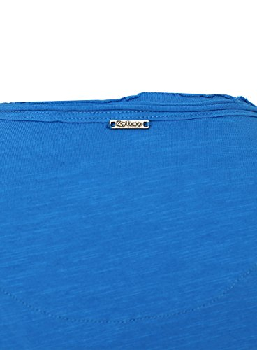 Key Largo Herren T-Shirt WATER Einfarbig Basic Kombinierbar Blau