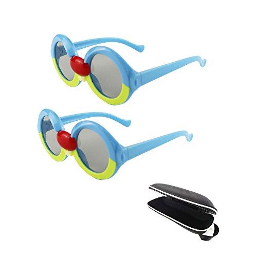 2 Paar 3D-Brille für Kinder, Passive Circular polarisierte 3D-Brille für Sony LG Toshiba Panasonic Vizio JVC Philips und alle passiven 3D-TVs 3D RealD Kinos Kino-System für Kinder