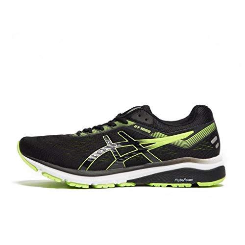 newest 06380 ef0c3 ASICS Men s Gt-1000 7 Running Shoes, (Black Hazard Green 004)