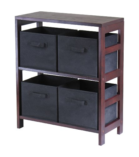winsome-capri-2-section-m-storage-shelf-with-4-foldable-black-fabric-baskets