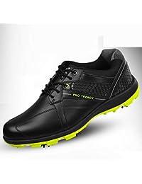 new concept 29909 8aa9a YCGJ Scarpe da Golf da Uomo in Pelle Microfibra Impermeabile Outdoor  Sneakers per Uomo Facile da