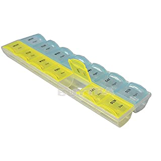 amazing-trading Neue Kollektion Sonderangebote 7 Tage pro Woche Tablette-Pille-Medizin-Kasten-Halter-Speicher-Organisator-Beh?lter-Kasten