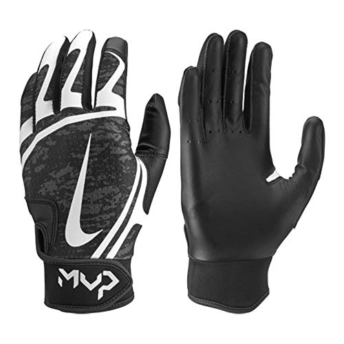 Nike Hyperdiamond Edge Baseball Handschuhe, Batting Gloves - schwarz/weiß Gr. S (Nike-baseball-handschuh)