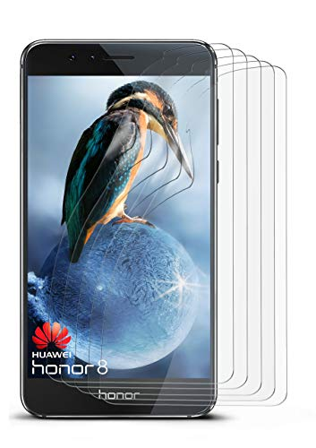 5X Huawei Honor 8 | Schutzfolie Matt Bildschirm Schutz [Anti-Reflex] Screen Protector Fingerprint Handy-Folie Matte Bildschirmschutz-Folie für Honor 8 Bildschirmfolie