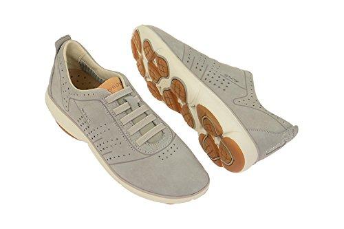 Geox Chaussures Femme-Confortable Pantoufles Nebula-Flash Gris - Hell-Grau