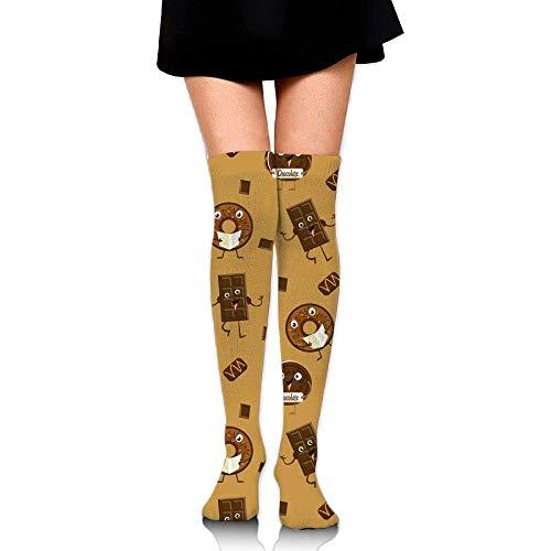 CVDFVFGB Women Bonfire Fire Prints Tube Socks Over The Knee Thigh High Stockings for Girls High Long Soccer (Frankreich Girl Kostüm)