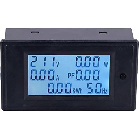Yeeco Digitale Multimetri AC 110-250V 20A Tensione Amperaggio Power Energy Metro AC Volt Amp Tester Valutare Tenere Sotto Controllo Digital Display LCD Volt Attuale Misurazione con Retroilluminazione Blu Interruttore Pulsante