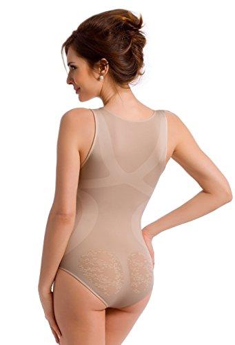 TESPOL figurformender und komfortabler Damen-Shaping-Body seamless made in Italy Natur