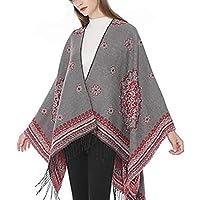 Flyself Poncho Chal Mujer Otoño e Invierno Fular Grande Elegante Cálido Outwear Bufanda