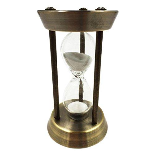 Sharplace 5 Minuten Sanduhr mit Hölzerner Rahmen & Sand Timer für Kochen, Maske, Yoga, Lesen, Zähneputzen, usw.