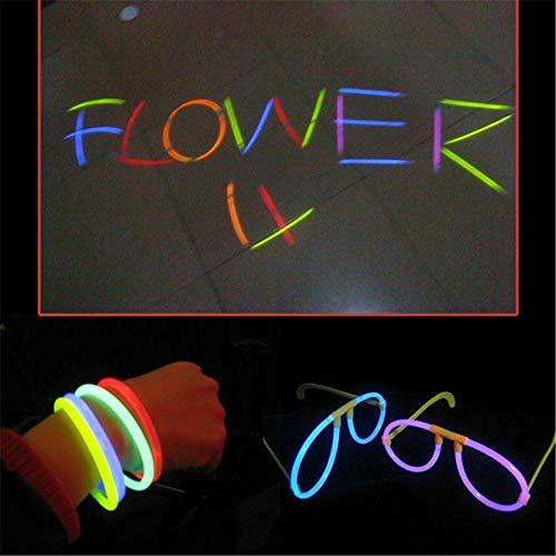 Hpybest - Juego de 100 pulseras de colores que brillan en la...