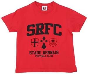 SRFC Stade Rennais T-shirt Logo Manche courte mixte enfant Rouge 6 ans