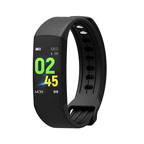 Fitness Tracker, Customized Activity Tracker mit Herzfrequenz-Monitor, 14 Sports Modes Smart Watch IP67 Waterproof Pedometer für Männer, Frauen und Kinder,Black