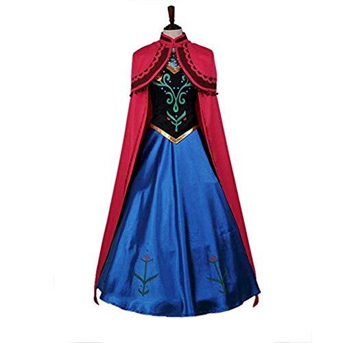 Animation Kostüm - CHERSH Halloween Frozen Anna Kleider Cosplay Animation Kostüme (Color : A, Size : S)