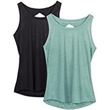 Icyzone Women Yoga Vest Back Fitness Workout Tank Top Sleeveless Tops