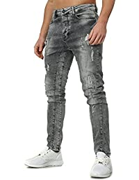 VSCT Homme destroyed jeans CARTER FIVE Mince Fit Section avec Effets