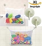 liltourist Bad Spielzeug Organizer, Badewannen Spielzeug Aufbewahrung, Badewannen-Spielzeugnetz, Netz mit starken Saugnäpfen für Fliesen, Glas und mehr