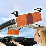 QYHT Auto Sonnenblende, 2 in 1 Blendschutz Auto Sonnenblende, Auto transparentes Blendschutzglas-Auto-Sonnenblende-Extender für Tag und Nacht (1pcs)