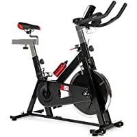 XS Sports XS012 Exercise Bike - Aerobic Equipment - Upright Indoor Cycling Trainer Machine with 15kg Spinning Flywheel for Cardio Workout with full Warranty