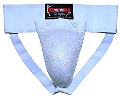 Boom Beste Leistenschutz MMA Abdominal Leiste Pokal Abdo Schutz Tiefschutz Muay Thai Kriegerisch Arts Supporter Kickboxen Sport Weiß - Weiß, X-Large
