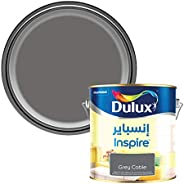Dulux Inspire Interior Silk Long Lasting Colour Paint for Walls & Ceilings - Grey Cable 1 L