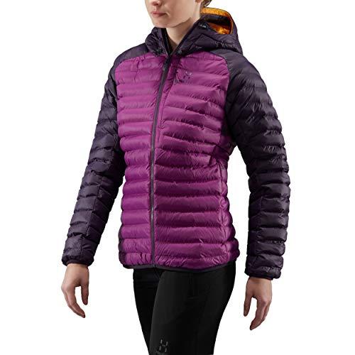 Haglöfs Damen Essens Mimic Hood Jacket Violett/Acai-Beere L