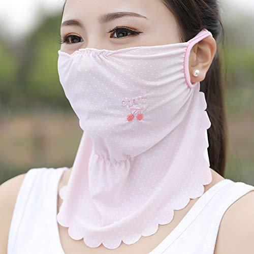 Preisvergleich Produktbild IOIOA Gesichtsmaske für Sonne - Sommer Outdoor-Sonnenschutzmasken Großflächige UV-Schutzmaske für den Hals. Atmungsaktive Sonnenschutzmaske, E, 3PCS