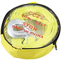 KNOSSOS 5 Tons 4M Car Towing Rope Tow Cable Strap Towing Pull Rope with Hooks Rope - Yellow