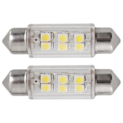 10 X 12V 6 SMD LED 39mm Blanco Dome Bombilla Interior del...