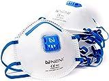 NENI Atemschutzmaske FFP2 im 10er Set | Premium Feinstaubmasken als Anpassbare Mundschutz Masken | Atemmasken gegen Feinstaub