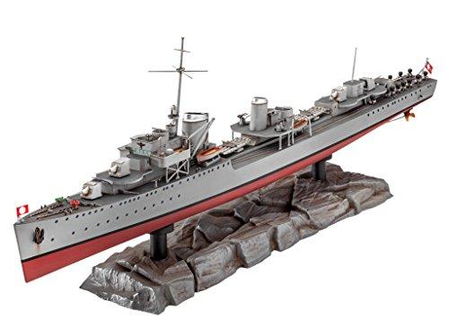 Revell modellino di nave 1: 350–german destroyer type 1936in scala 1: 350, level 4, riproduzione fedele all' originale con molti dettagli, 05141