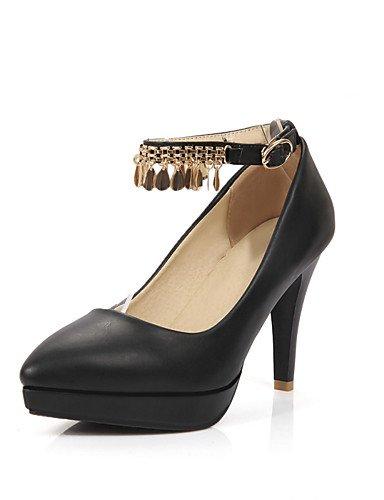 WSS 2016 Chaussures Femme-Bureau & Travail / Décontracté-Noir / Rose / Blanc-Gros Talon-Talons / Bout Pointu-Talons-Polyuréthane pink-us7.5 / eu38 / uk5.5 / cn38