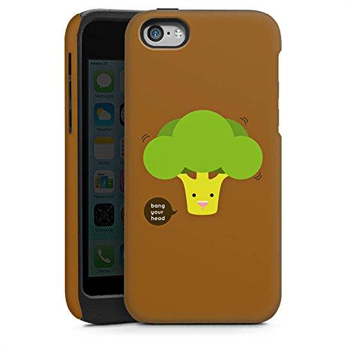 Apple iPhone 5 Housse étui coque protection Brocoli Légume Smiley Cas Tough brillant