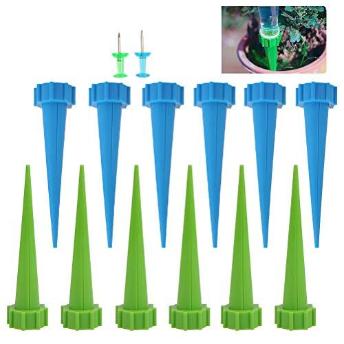 OFNMY 12 Stück Automatische Bewässerungssystem Selbst Pflanzen Wasser Bewässerung Kegel Pflanzengießer Tropfbewässerung für Garten,Zimmerpflanze,Blumen -