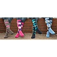 Rhinegold 0 Cool & Dry Cushioned Sole Riding Socks-Blue/Navy, One Size
