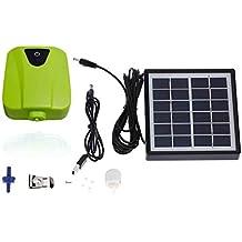 Topker Cargador de banco de panel de energía solar ultra silencioso Oxígeno de oxígeno Aireador de aire Bomba de oxígeno Estanque de piscina Tanque de peces de acuario