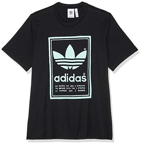 adidas Vintage–Camiseta de, Hombre, DJ2712, Negro, Small