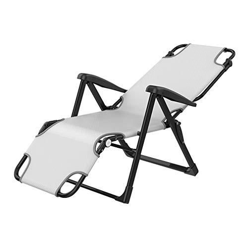 SACKDERTY Liegestühle Faltbare Garten-Sonnenliegen mit Kopfstützenstange Solarium Büromittagspause Stuhl Tragkraft 200kg