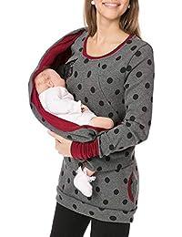 Camisetas Maternidad Enfermería Manga Larga Primavera,PAOLIAN Ropa Sudaderas Embarazadas Premamá Sujetadores Lactancia Amamantamiento Invierno Blusas Tops con Portabebés Cremalleras Mujeres