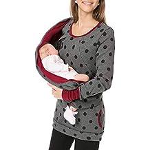 LHWY Premamá Invierno Leggins Abrigos Sudadera con Capucha De Mujer Embarazada Sudadera con Capucha De Maternidad