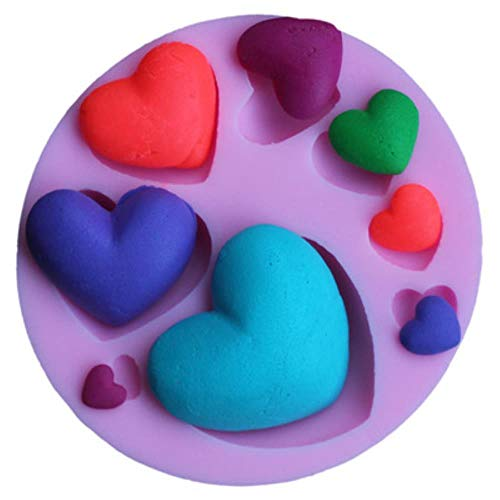 Loving bird 3D Silicone Loving Heart Shaped Baking Mold Fondant Cake Tool Chocolate Candy Cookies Pastry soap Moulds d036 Heart Shaped Cookie Pan