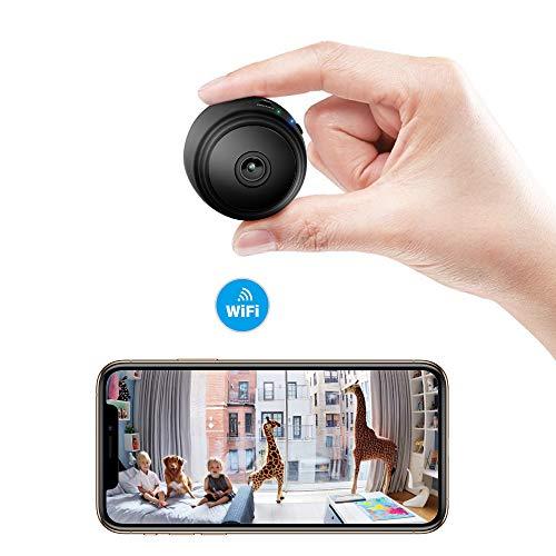 Sonkir Mini Kamera Full HD 1080P WiFi Drahtlose Fernüberwachungskamera Kindermädchen Cam Home Überwachungskamera (720p Hd Spy Kamera)