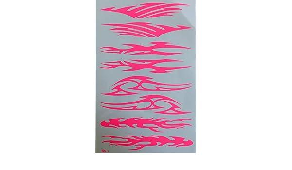 by soljo Flammes feu Rose Sticker Tuning Racing Motocross Autocollant Feuille 27 x 18 cm
