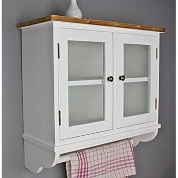 Hängeregal küche landhaus  elbmöbel Wandregal für die Küche | Garderobe aus Holz in braun und ...