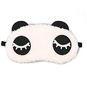 24x7eMall Panda Eye pad, Eye mask Cartoon Super Soft & Comfortable For Sleeping (Panda Eyes)
