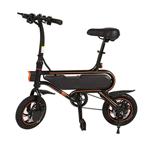 "Hehilark 250W Schwarz Elektrofahrrad Elektrofahrräder E-Faltrad Electric Bicycle E-Bike 12\"" Zoll Pedelec Klapprad Faltrad 20km/h - Schnelle Aufladung, Rahmenintegrierter Akku, 2 Working Mode"