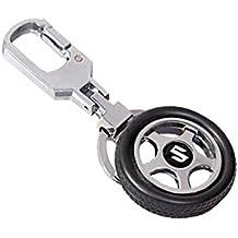EASY4BUY Spinning Tyre Rotary Wheel Locking Metal Keychain/Keyring / Key Ring/Key Chain Maruti Suzuki