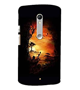 Painting 3D Hard Polycarbonate Designer Back Case Cover for Motorola Moto X Style :: Moto X Pure Edition