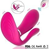 G-Punkt Klitoris Stoßfunktion Dildo Vibratoren Massagegerät Rabbit-Vibratoren Leise Erotik Sexspielzeug Stimulator Realistischer Butterfly Vibrator für Sie Frauen und Paare (Rosa)